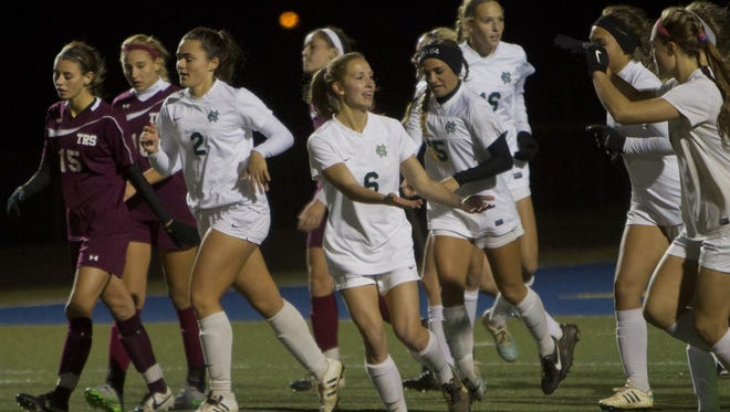 Colts Neck girls soccer played Toms River South in a Group III state semifinal on Nov. 17, 2015