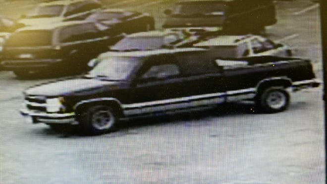 Police are searching for this 1995 Chevy truck, Ohio registration, which they say is involved with a Sunday hit and run.