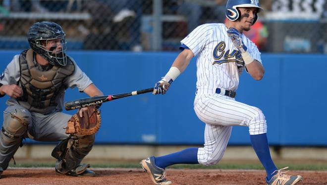 Wren's Brady Smith, shown batting against Chapman, had a two-run homer and a double in the Hurricanes' 9-2 win over Seneca Monday night.