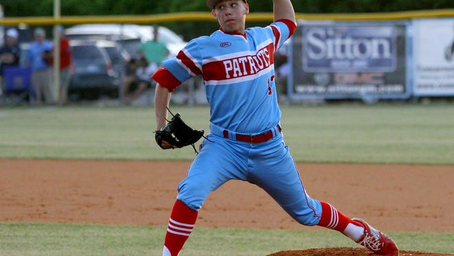 J.L. Mann's Jack Stamler, shown in Game 1, allowed one earned run and four hits in the Patriots' 2-1 loss in Game 3 Friday night.