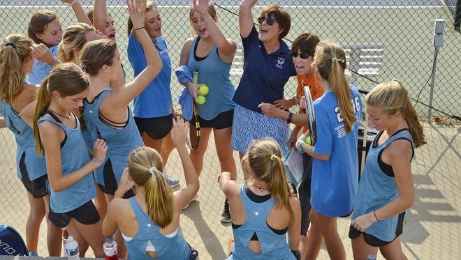 Christ Church's girls tennis team is seeking a 10th consecutive trip to the state final under coach Sherry Adams.