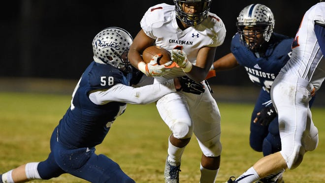 Running back D.J. Twitty and the Chapman Panthers will play at Newberry in the Class AAA Upper State championship game Friday night.