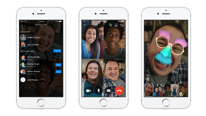 Facebook Messenger launches group video chat.