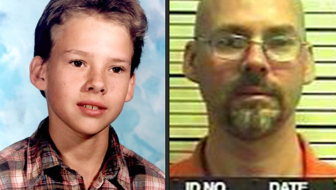 Michael Lehman, 43, who was found guilty of first-degree murder and sentenced to life in prison without the possibility of parole, is seen in these two photos. The picture on the left is from age 13 — one year before he was involved in the murder of Kwame Beatty, 23, a youth counselor at a group home in North York.