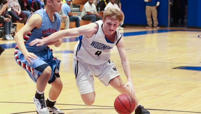 Woodmont senior Jackson Alexander, right, who scored 45 points in a loss to Westside, is the Greenville County Boys Basketball Player of the Week.