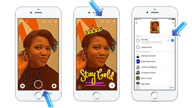 Facebook Messenger is rolling out its version of Snapchat's Stories feature. It's called Messenger Day.