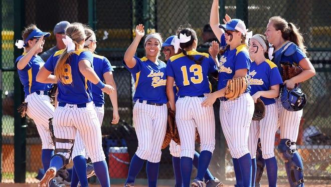 It was an inspired John Carroll Catholic High School girls softball team that showed up Thursday at Historic Dodgertown in Vero Beach. The Golden Rams beat Lakeland Christian 4-1 to win the FHSAA Class 3A title.