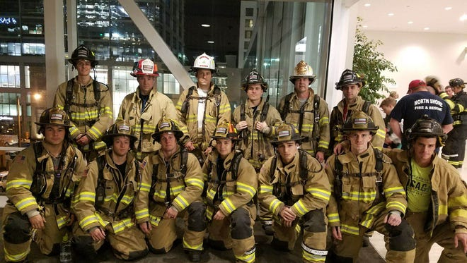 The West Allis firefighter stair climbing team won individual and team honors in the Cystic Fibrosis Foundation's Firefighter Stair Climb up the US Bank building on Nov. 9. The fastest three had better scores than any other participating fire department for a fifth year.