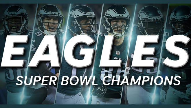 Eagles win first Super Bowl ever, beating Patriots 41-33.