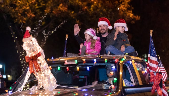 73rd Annual Candy Cane Lane Parade in Downtown Visalia on Monday, November 26, 2018.