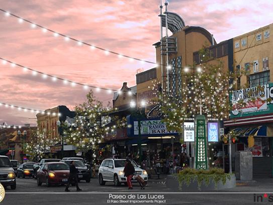 Rendition of Paseo de las Luces at South El Paso Street