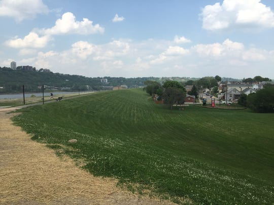This site in front of Dayton, Ky.'s floodwall is just