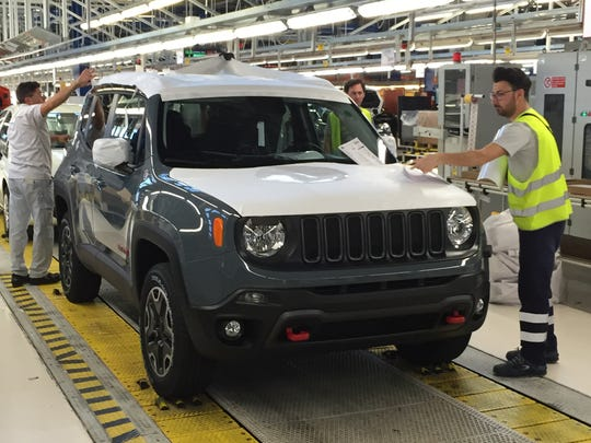 A Jeep Renegade bound for sale in North America nears