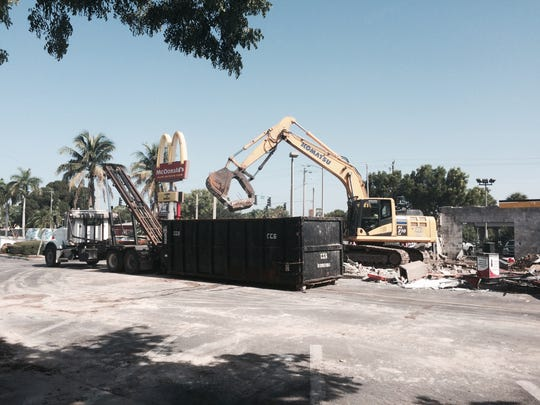Demolition of McDonald's on Cleveland Ave in Fort Myers,