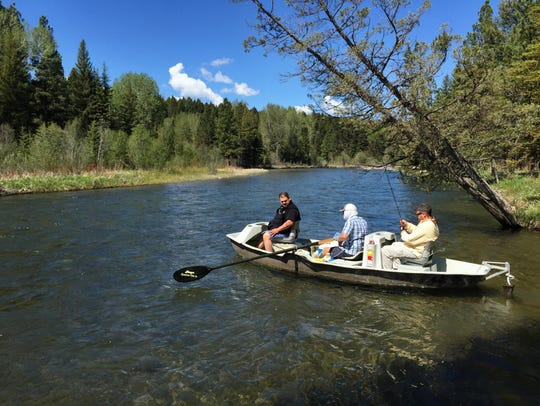 Anglers launch on the Blackfoot River at Harry Morgan