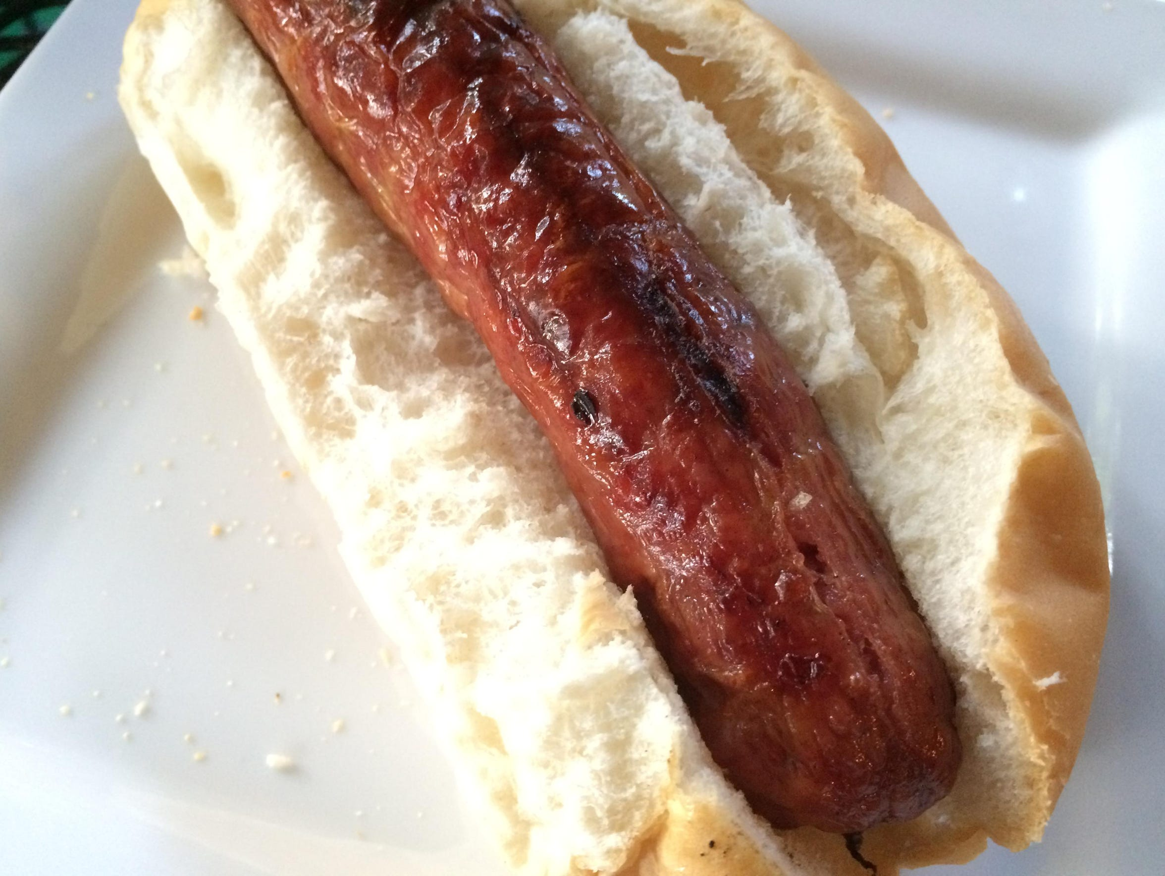 Some say the bratwurst is perfect by itself and doesn't