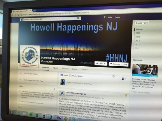 Howell Mayor William Gotto addressed discriminatory comments being made on Howell Facebook pages.