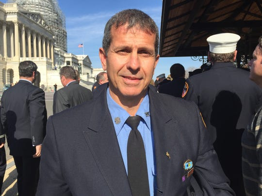 Retired New York City Firefighter Anthony Carbone of Beekman at the U.S. Capitol on Nov. 17, 2015.