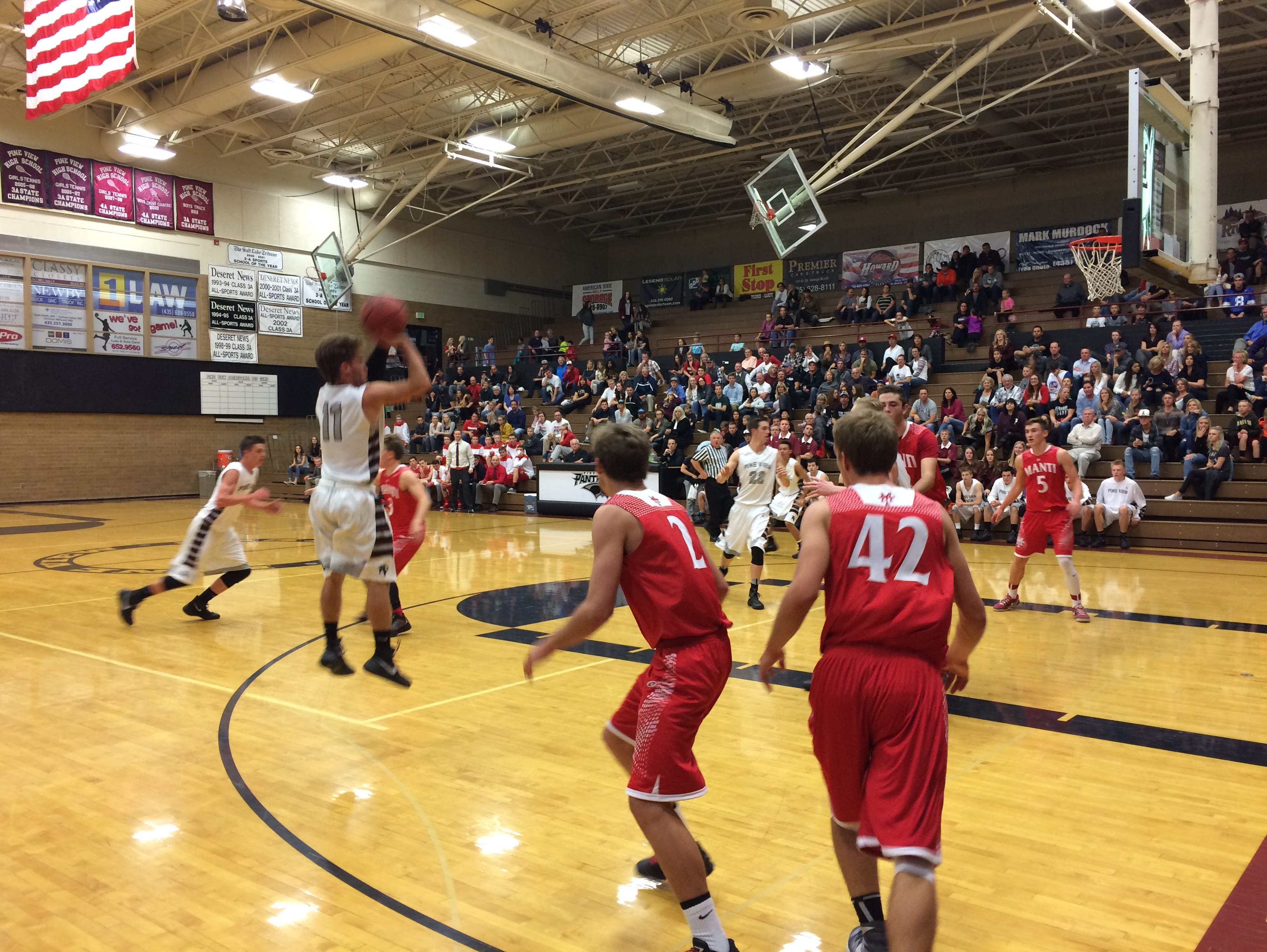Pine View's Tyler Johnston scored 22 points as the Panthers beat Manti, 70-59, in the home opener on Tuesday.