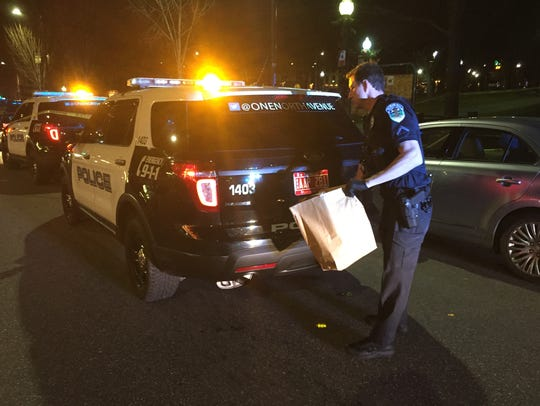 Burlington police investigate a stabbing Monday night