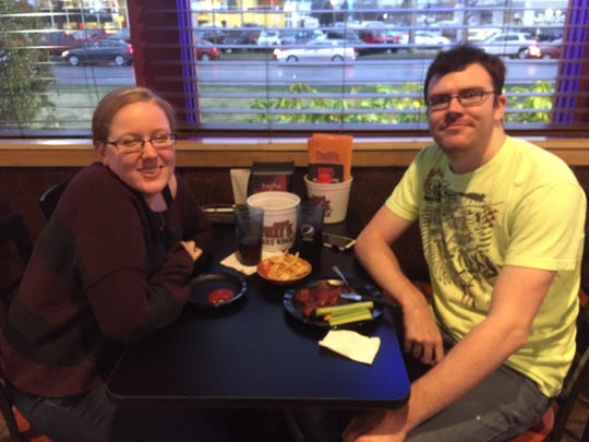 Kathy Davison and Drew Tedesco visited Duff's in Brighton on its opening day.