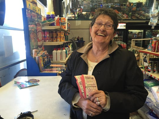 Ida Mae McMahan, of Asheville, said she thought her luck with scratch-off tickets Wednesday at BJ's in West Asheville would be good luck in the Powerball.