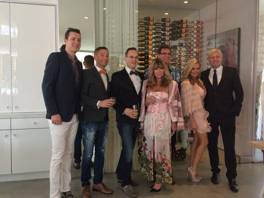 Friends and supporters of FGI at a fundraising fashion