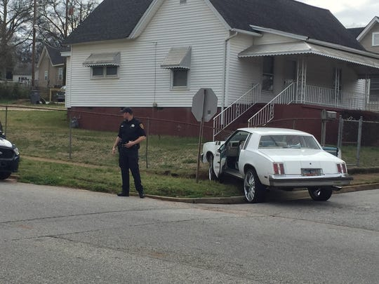 A car being pursued by deputies crashed into a fence