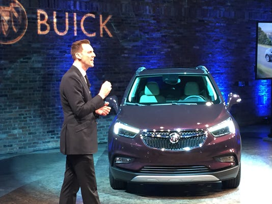 The 2017 Buick Encore is revealed in New York