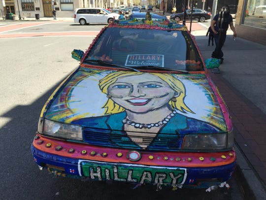 The Hillary-Mobile on Martine Avenue in White Plains