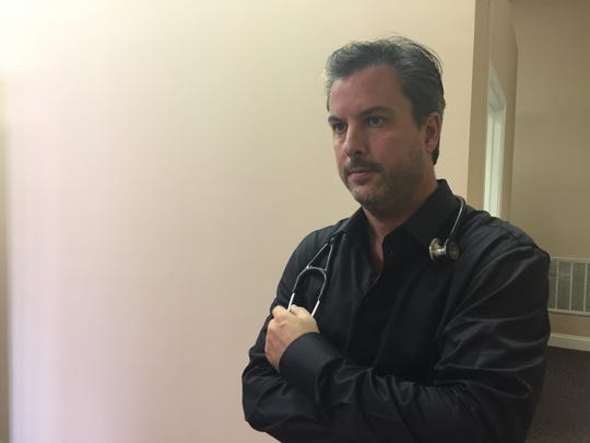 Dr. Brent Staton in his medical practice in Cookeville,