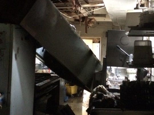 The kitchen at Eastgate Diner sustained heavy damage in an early morning fire.