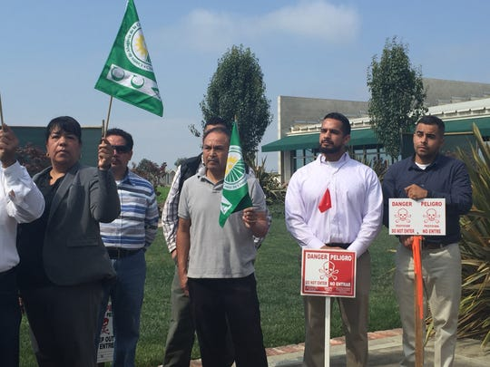 Farmworkers in Monterey County support the county's new pesticide initiative