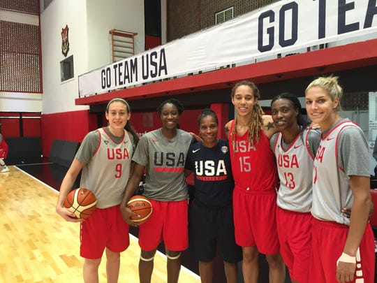 Jamelle Elliott coached the post players of the USA women's basketball team in Rio.