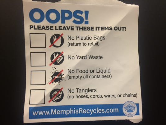 Recycling violation sticker
