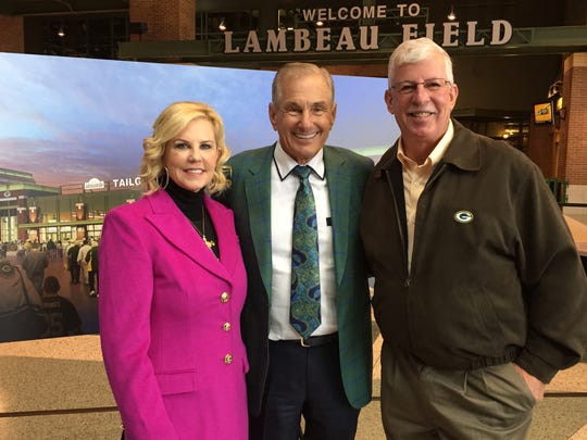 Shelly and Ralph Stayer joined Green Bay Packer officials last week to announce a new tailgate experience to open at Lambeau Field in 2017.