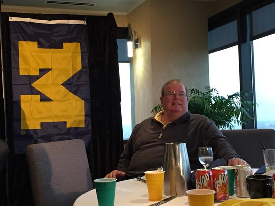 Jim Brandstatter, a radio broadcaster for the Lions and Michigan football, answered questions at the ninth annual Big Game Tablegate media luncheon at the Skyline Club in Southfield on Wednesday, Oct. 26.