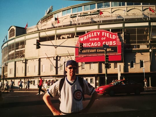 CA reporter Jody Callahan has made numerous pilgrimages to Wrigley Field, including this one in the early 'aughts.