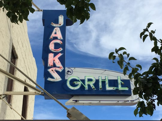 Jack's Grill sign, a California Street landmark.