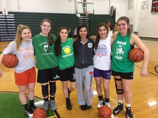 Pascack Valley's six seniors have been key in helping the Indians reach the Group 3 final. From L-R, Kayleigh Basovsky, Shannon Culloo, Sara Bousleiman, Rita Kochakian, Danielle Miller and Sophia Johnston.