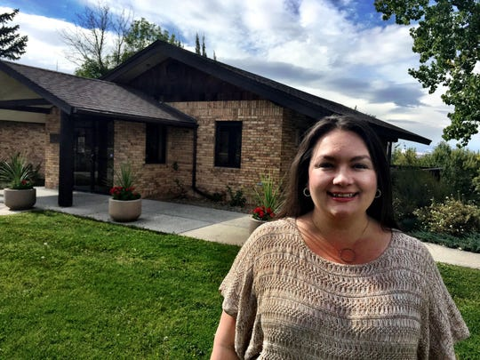 Rebecca Engum, executive director of Great Falls Montana Tourism, stands in front of the Visitor Center in 2005 when she got her job.