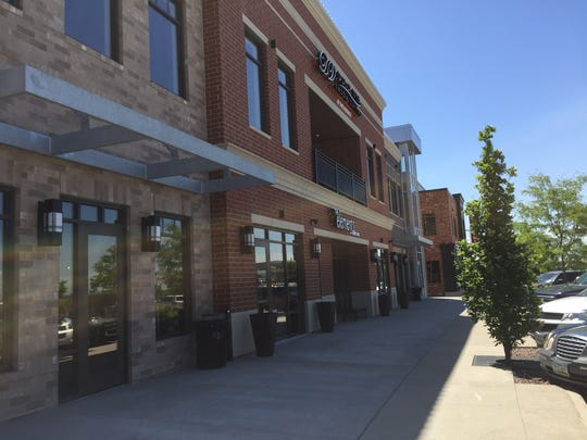 Part of the retail development at Prairie Trail in