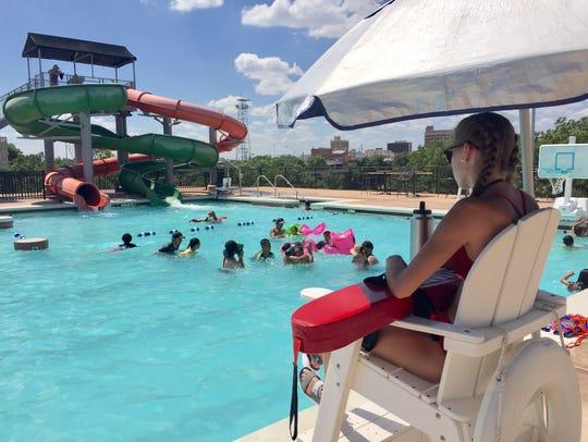 Lifeguard Skylar Smith on duty at San Angelo's Love