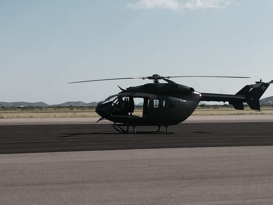 A UH-72 Lakota helicopter belonging to the New Mexico National Guard is seen in August 2015 at the Las Cruces International Airport.