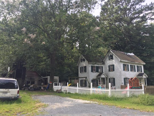 The home on Gladding Road in Mears, Virginia where