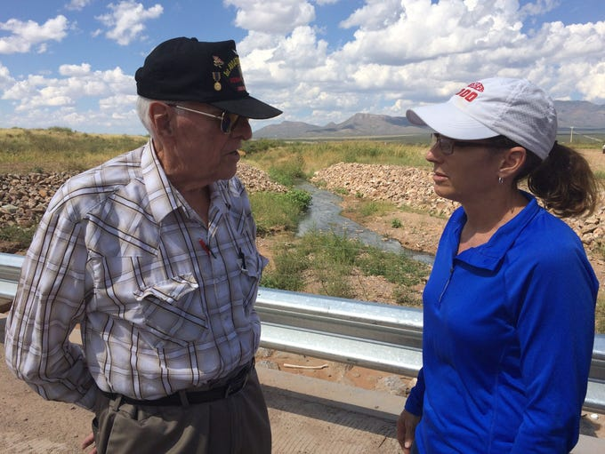 Longtime Naco, Arizona, resident Gerald Everwein explains