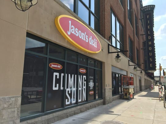 Jason's Deli opened a restaurant at Bankers Life Fieldhouse in the space that was once a Dunkin' Donuts in September 2017. That location closed less than a year later.