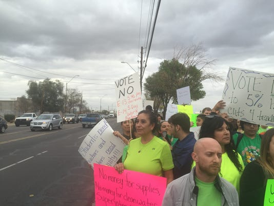 Protests outside Murphy district office