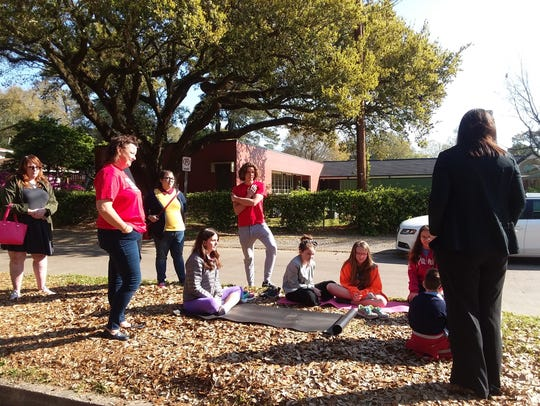 A small walkout took place Wednesday at Myrtle Place