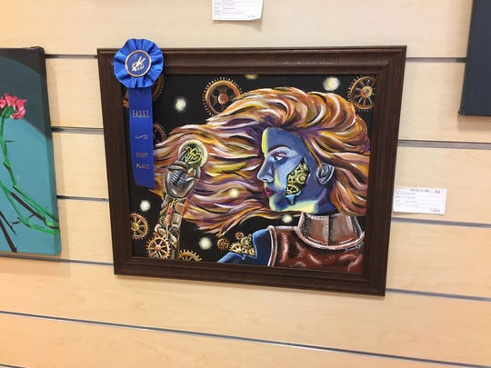 """Switching Gears,"" by Owego Free Academy senior Larissa Hankey, took first place for painting in the Fine Arts Society of the Southern Tier's Young at Art Show and Competition in March."